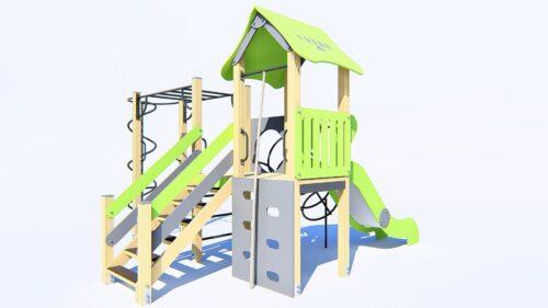 aire de jeux avec toboggan